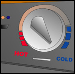 hot cold dial washer