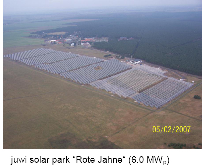 juwi thin film solar plant