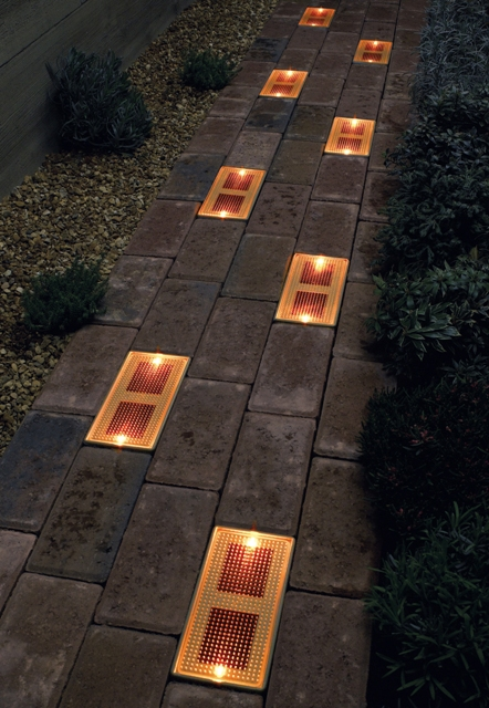 solar bricks in path