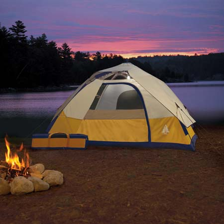 Woods Solar Powered EZ-Tent With LED Lights & Early Morning Solar Gadget u2013 Woods Solar Powered EZ-Tent With LED ...