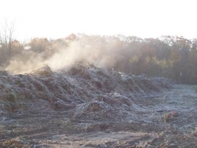 steaming compost