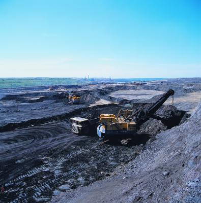 open pit tar sands mining