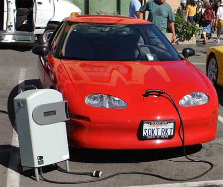 electric powered cars image